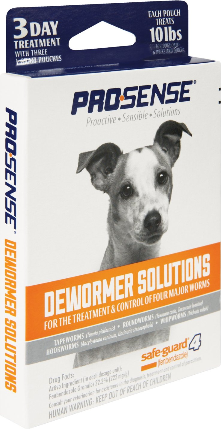 Pro-Sense SafeGuard 4-in-1 Small Dog Dewormer, 1 gram, 3 treatments