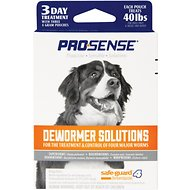 Pro-Sense Safe-Guard 4-in-1 Medium/Large Dog Dewormer, 4 gram, 3 treatments