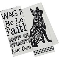 Design Imports Dogs Printed Dishtowel, 4 Pack