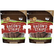 Pet 'n Shape Bacon'd Strips with Turkey & Bacon Dog Treats, 6-oz bag, 2 pack