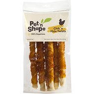 Pet 'n Shape All-Natural Chicken Hide Twists Dog Treats, 6 count