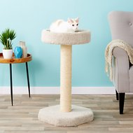 Molly and Friends Feline Recliner 27-in Cat Tree & Scratching Post, Beige