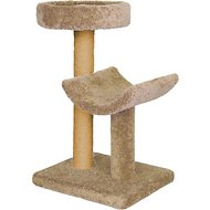 Molly and Friends Simple Sleeper 37-inch Cat Tree & Scratching Post, Beige