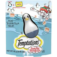 Temptations Snacky Penguin Cat Treat Toy, 0.42-oz treat pack