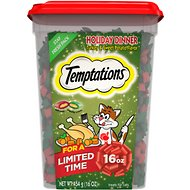 Temptations Holiday Dinner Cat Treats, 16-oz tub