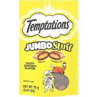 Temptations Jumbo Stuff Tasty Chicken Flavor Cat Treats, 2.5-oz bag