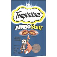 Temptations Jumbo Stuff Savory Salmon Flavor Cat Treats, 2.5-oz bag