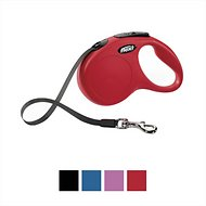 Flexi New Classic Retractable Tape Dog Leash, Red, Medium/Large, 16-ft