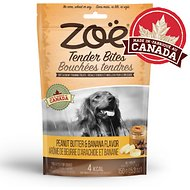 Zoe Tender Bites Peanut & Banana Dog Treats, 5.3-oz bag