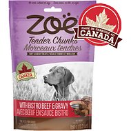 Zoe Tender Chunks Beef & Gravy Dog Treats, 5.3-oz bag