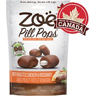 Zoe Pill Pops Roasted Chicken with Rosemary Dog Treats, 3.5-oz bag