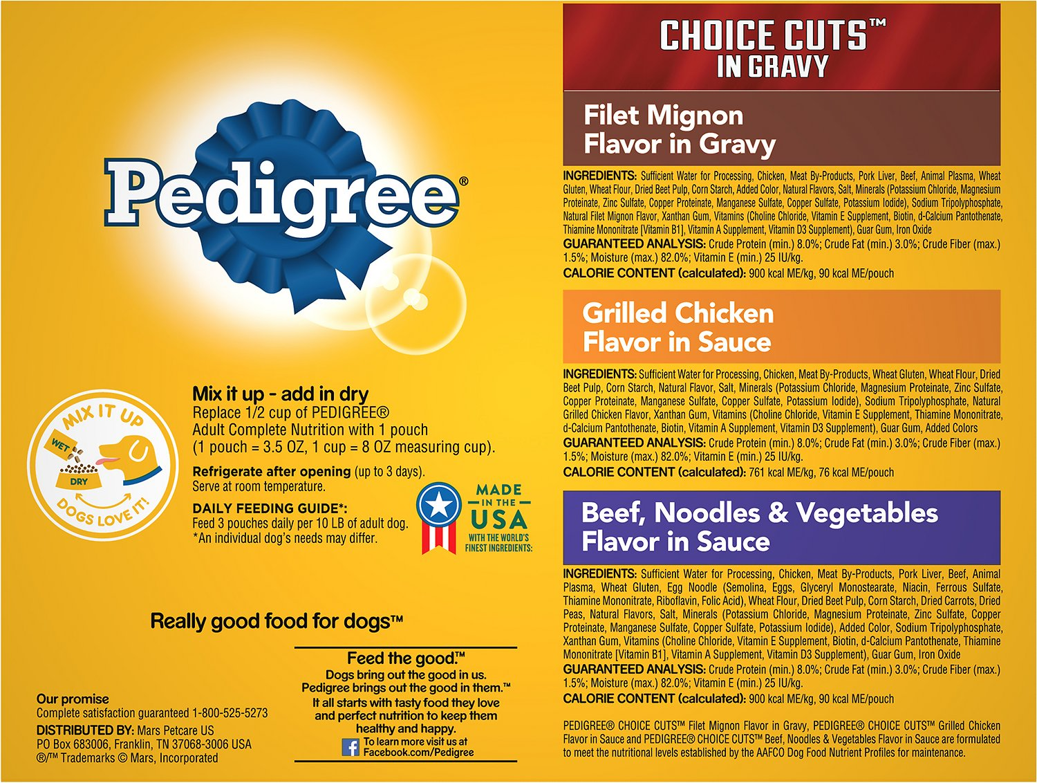 Pedigree Choice Cuts Variety Pack With Beef Chicken Filet Mignon