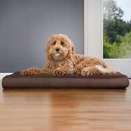 FurHaven Snuggle Terry & Suede Deluxe Orthopedic Dog & Cat Bed, Espresso, Large