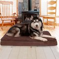 FurHaven Snuggle Deluxe Orthopedic Pillow Cat & Dog Bed w/Removable Cover