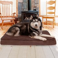 FurHaven Snuggle Terry & Suede Deluxe Orthopedic Dog & Cat Bed, Jumbo, Espresso