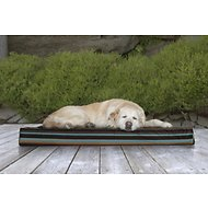 FurHaven Indoor & Outdoor Deluxe Stripe Orthopedic Mat Dog & Cat Bed, Espresso Stripe, Jumbo