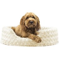 FurHaven Ultra Plush Oval Dog & Cat Bed, Large, Cream