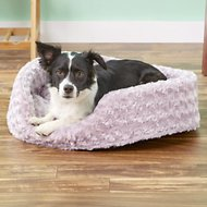 FurHaven Ultra Plush Oval Dog & Cat Bed, Lavender, Large
