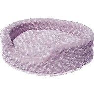 FurHaven Ultra Plush Oval Dog & Cat Bed, Lavender, Jumbo