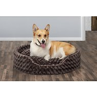 FurHaven Ultra Plush Oval Dog & Cat Bed, Chocolate, Extra Large