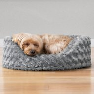 FurHaven Ultra Plush Oval Dog & Cat Bed, Gray, Small