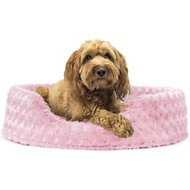 FurHaven Ultra Plush Oval Dog & Cat Bed, Strawberry, Large