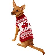 Blueberry Pet Vintage Reindeer Dog & Cat Sweater, 10-in