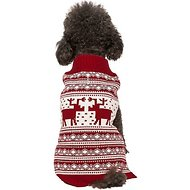 Blueberry Pet Vintage Reindeer Dog & Cat Sweater, 12-in