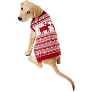 Blueberry Pet Vintage Reindeer Dog Sweater, Back Length 14""