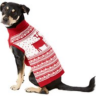 Blueberry Pet Vintage Reindeer Dog Sweater, Back Length 16""