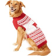 Blueberry Pet Vintage Reindeer Dog & Cat Sweater, 20-inch