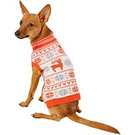 Blueberry Pet Fancy Reindeer Dog Sweater, 10-in