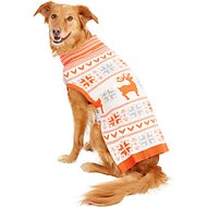 Blueberry Pet Fancy Reindeer Dog Sweater, Back Length 20""