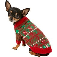 Blueberry Pet Christmas Themed Dog Sweater, 8-in