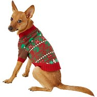 Blueberry Pet Christmas Themed Dog Sweater, Back Length 10""