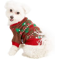 Blueberry Pet Christmas Themed Dog Sweater, 12-in