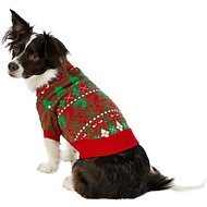 Blueberry Pet Christmas Themed Dog Sweater, Back Length 14""