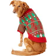Blueberry Pet Christmas Themed Dog Sweater, Back Length 20""
