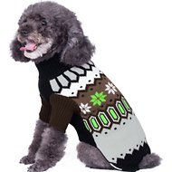 Blueberry Pet Nordic Fair Isle Dog Sweater, Back Length 14""