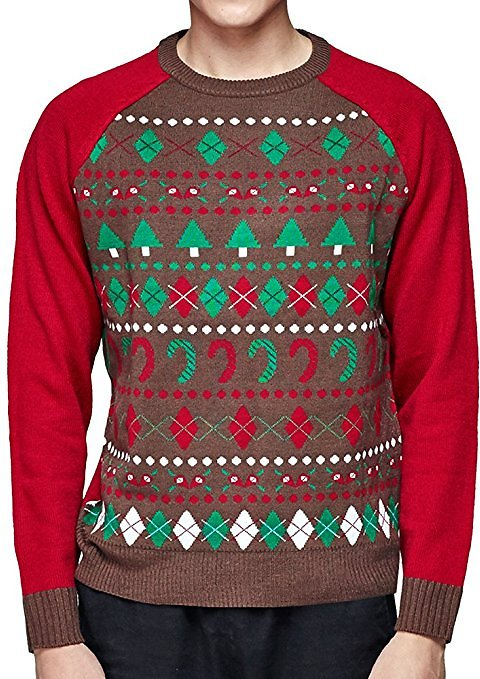 Christmas Themed Men´s Sweater Blueberry Pet Extra Large