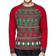 Blueberry Pet Christmas Themed Men's Sweater, Medium