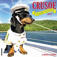 Crusoe the Celebrity Dachshund 2018 Wall Calendar