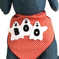 Tail Trends 3 Ghosts Dog Bandana, Large