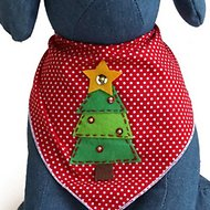 Tail Trends Christmas Tree Dog Bandana, Large