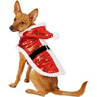 Zack & Zoey Sparkle Sequin Velvet Santa Dog Coat, X-Small