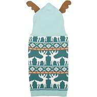 Zack & Zoey Elements Antler Dog Sweater, X-Small, Blue