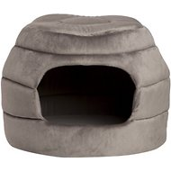 Best Friends by Sheri 2-in-1 Honeycomb Hut-Cuddler Pet Bed, Grey