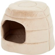 Best Friends by Sheri 2-in-1 Honeycomb Hut-Cuddler Pet Bed, Wheat