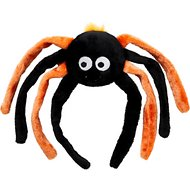 ZippyPaws Halloween Grunterz Orange Spider Dog Toy