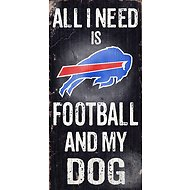 "Fan Creations ""All I Need is Football and My Dog"" NFL Wood Sign, Buffalo Bills"